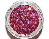Rose Glitter Mix, Rose Glitter, Pink Nail Glitter, Solvent Resistant, Glitter, Glitter Mix, Nail Glitter, Nail Art, Raw Glitter Mix, Rose
