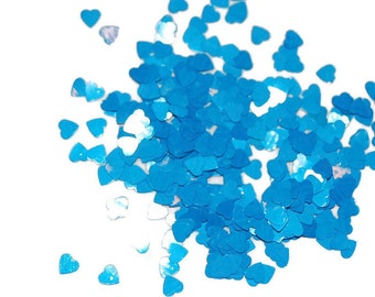 Tiny Peacock Blue SOLVENT RESISTANT Glitter Hearts - 1 Fl. Ounce for Glitter Nail Art , Glitter Nail Polish and Glitter Crafts