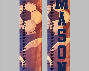 Vintage Sports Canvas Growth Chart