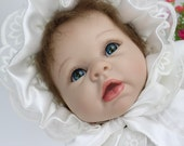 Toy Gift Hand Made Soft Silicone Reborn Baby Doll Lifelike Newborn Baby Doll 22 inch