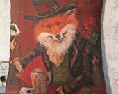 The Sly Fox pillow