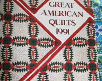Great American Quilts 1991 Vintage Book Patterns Compiled Sandra L. O'Brien Hard Cover