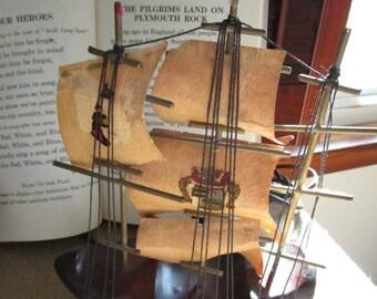 TV Lamp, Vintage Television Lamp, Mayflower Ship TV Lamp, Working TV Lamp, Night Light