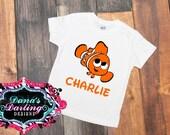 nemo shirt - personalized shirt - orange fish shirt - birthday shirt - boys birthday shirt - girls birthday shirt - finding nemo shirt