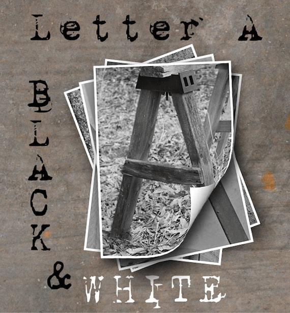 Alphabet Photo Letter Art, Letter A Choices, Alphabet Photography Prints, Black and White