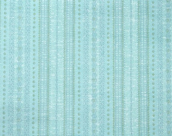 Retro Wallpaper by the Yard 70s Vintage Wallpaper - 1970s Vinyl Blue Geometric Stripe