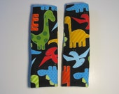 Bright Dinosaurs Car Seat Strap Covers