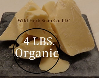 4 LBS Organic COCOA BUTTER - Pure, Fresh, Wholesale Price for Bulk Sizes