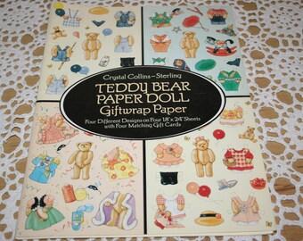 Giftwrap Teddy Bear PaperDolls