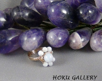 Wirewrapped Ring, 24ga 14k Gold Filled Round Wire, Size 5.5 - Hand Crafted Artisan Jewelry