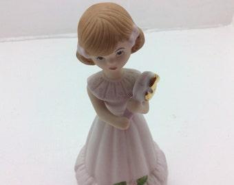 Growing up girls 5 year birthday figurine, 5th, five