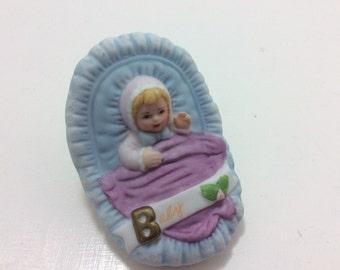 newborn baby Enesco birth year, made in 1983 vintage