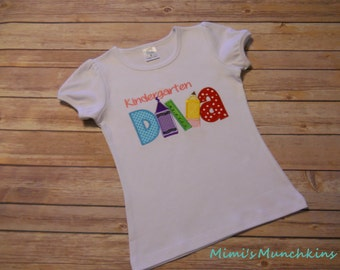 Kindergarten DIVA Tee /  Back To School / Custom Order