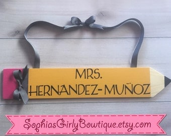 Personalized Wood Teachers Sign