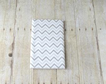 Flannel Swaddle Blanket - Gray Chevron Blanket  - Flannel Receiving Blanket - Gender Neutral Baby Gift - Baby Shower Gift