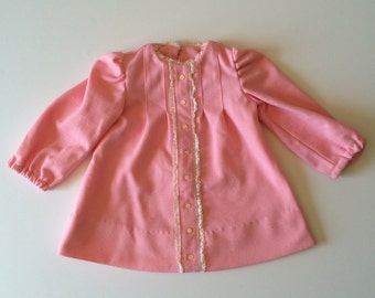 1960's Pink Polyester Shift Dress (12 months)