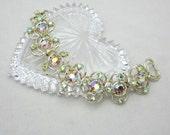 Vintage Rhinestone Bracelet - Designer Signed SELINI Bracelet, 1950s Bracelet - Statement Bracelet
