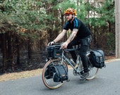 Southern Tier Randonneur, waxed canvas bicycle bag