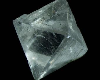 Fluorescent Clear Fluorite Octahedra