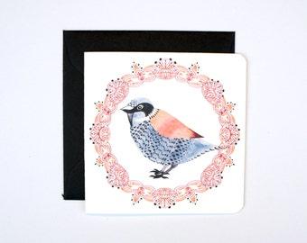 Mini Sparrow Card