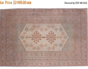 HAPPY SUMMER 10% OFF 6x9 Vintage Oushak Carpet