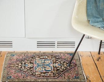 2x2.5 Antique Farahan Sarouk Rug Mat