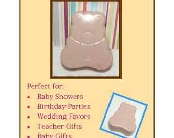 Teddy Bear Soap Favors, 20 Teddy Bear Soap Favors, Baby Shower Favors, Teddy Tea Party Favors