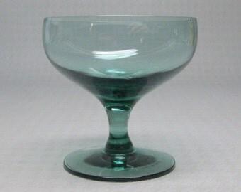 Russel Wright glass American Modern , Morgantown , one glass wine , seafoam