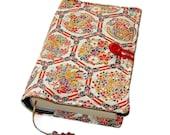 Fabric Bible Cover, Handmade Book Cover, Vintage Kimono Silk, Chinoiserie Flowers, UK Seller
