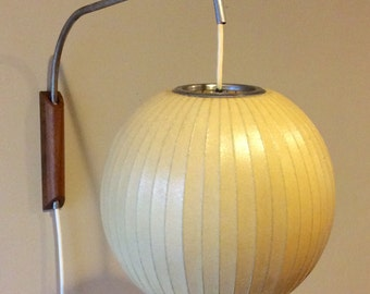 Mid Century George Nelson Wall Hanging Bubble Lamp