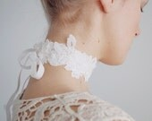 Lace choker / White bridal lace choker / White lace accessory / Bridal accessory / Bridal necklace