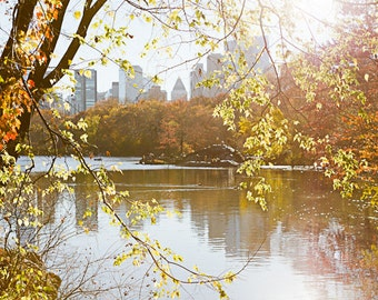 New York Photography, Central Park Prints, Autumn Art, Nature Photography, Fall NYC Photography, Fall Leaves Decor, Fall in City