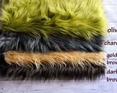 "CLEARANCE- 18""x30"" Newborn Photo Prop, Faux Fur, Basket Filler, Faux Fur Fabric, Mongolian Fur, Basket Stuffer, Backdrop"