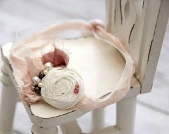 Newborn Headband, Newborn photo prop,Newborn props, Baby photo prop, Eco headband, Newborn tieback