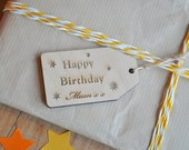 Wooden Personalised  Gift Tag