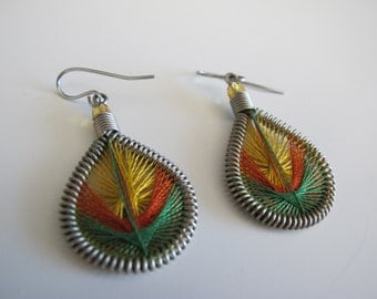 Colorful Woven Earrings