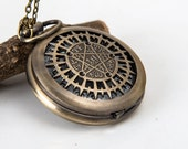 1pcs Black Butler retro Watch Charms Pendant with chain /pocket watch/Bridesmaid , watch necklace Christmas gifts, friends, children's gifts