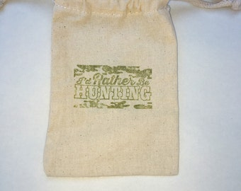 I'd Rather be Hunting Party Favor Bags / Set of 30/ Birthday Party Favor Bags