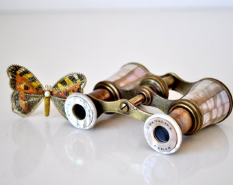 Antique Mother of Pearl Chevalier Opera Glasses Paris