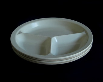 Anchor Hocking Microware Divided Plates Microwave Oven Safe PM486/TI