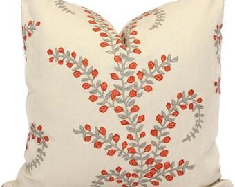 Duralee Prasana in Saffron Decorative Pillow Cover  Square or Euro pillow cover, Throw pillow, Pillow Cushion, Design pillow cover