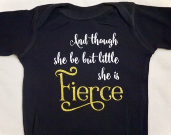 She is Fierce Baby Romper
