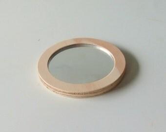 Objectify Plywood Pocket Mirror