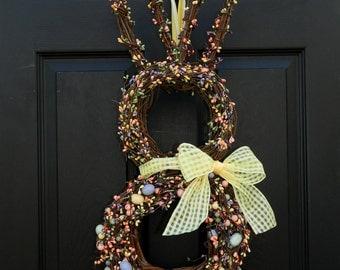 Easter Wreath - Bunny Wreath - Spring Wreath  - Easter Door Decor
