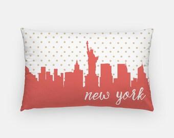 New York City skyline pillow   New York City pillow   New York pillow   NYC skyline pillow   Statue of Liberty pillow   lumbar pillow