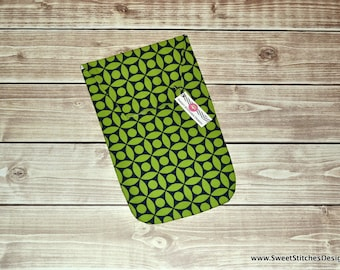 Diaper Clutch - Baby Diaper Holder Navy and Green Geometric - Chic Baby Handmade Baby Gift Diaper Organizer