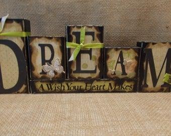 DREAM Word Block Sign
