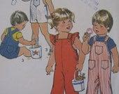 Vintage 1975 Toddler Jon Jon Overall Pattern - Simplicity 6948 - Size 1  Baby Pattern