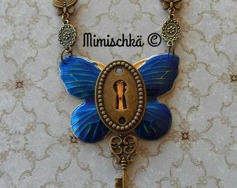 Necklace butterfly secret key