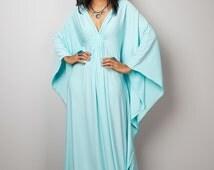 Mint Maxi Dress - Kaftan Kimono Butterfly Dress: Funky Elegant Collection No.1s